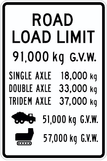 Road Load sign