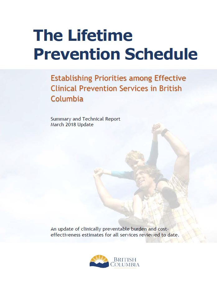 Lifetime Prevention Schedule - Province of British Columbia