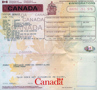 visitor permit example
