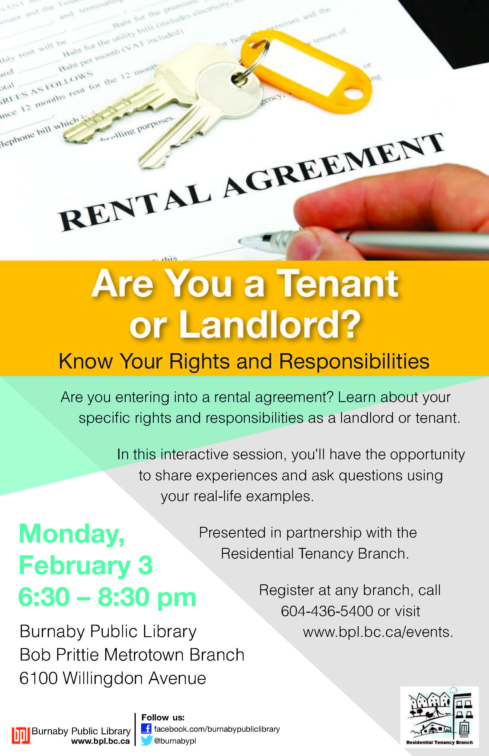 Are you a landlord or a tenant poster with date and time.