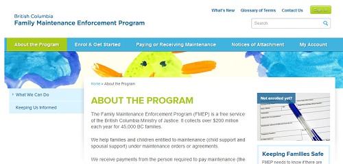 Image of FMEP front page.