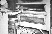 Baking bread in the cookhouse - Click to zoom