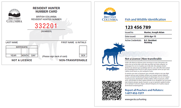 Hunter Number (left) vs. Fish & Wildlife ID (right)