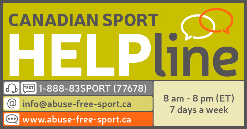 Canadian Sport Helpline contact information