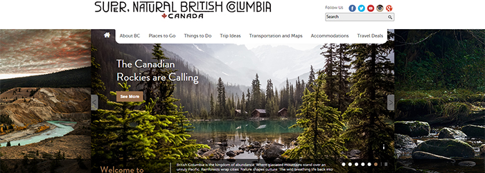 Visit www.hellobc.com to find things to do, places to go and ways to Explore BC